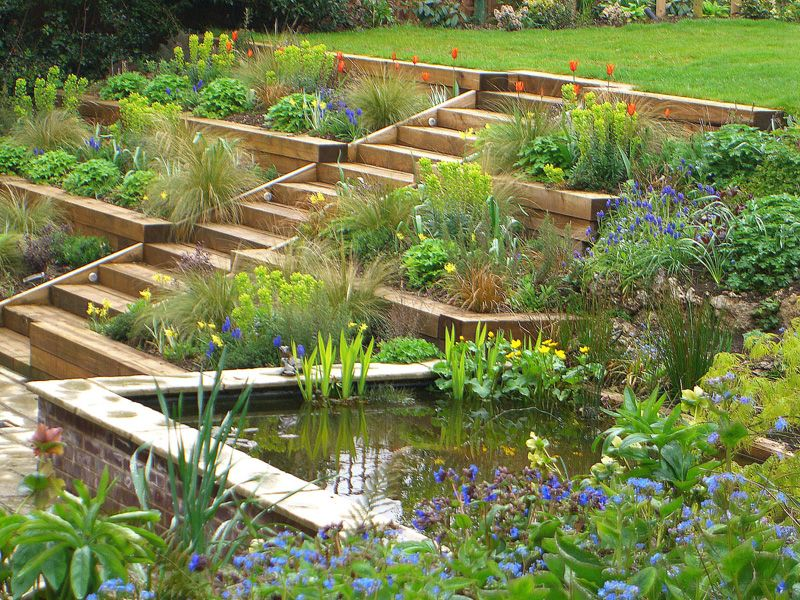 22 modern garden slope