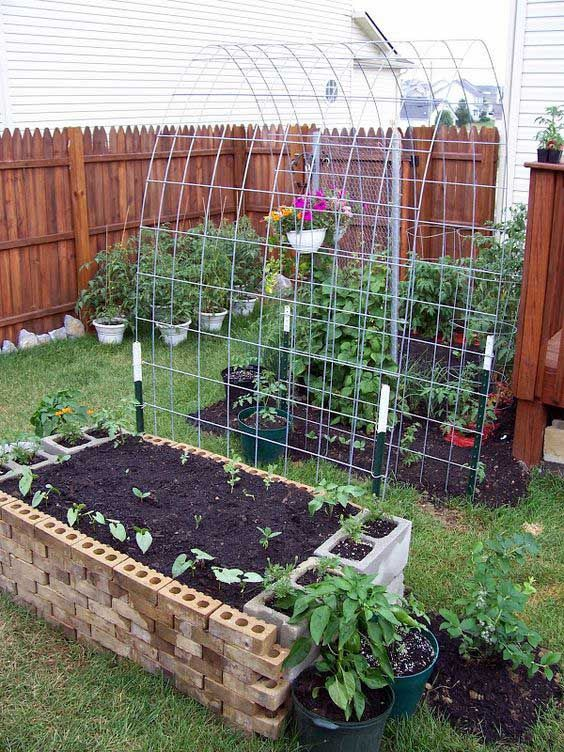 24 cinder block garden beds
