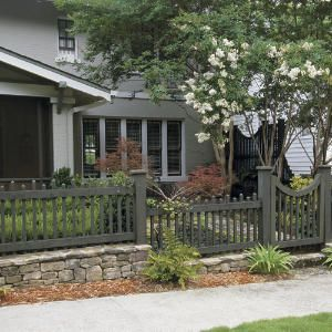 24 rock garden fence