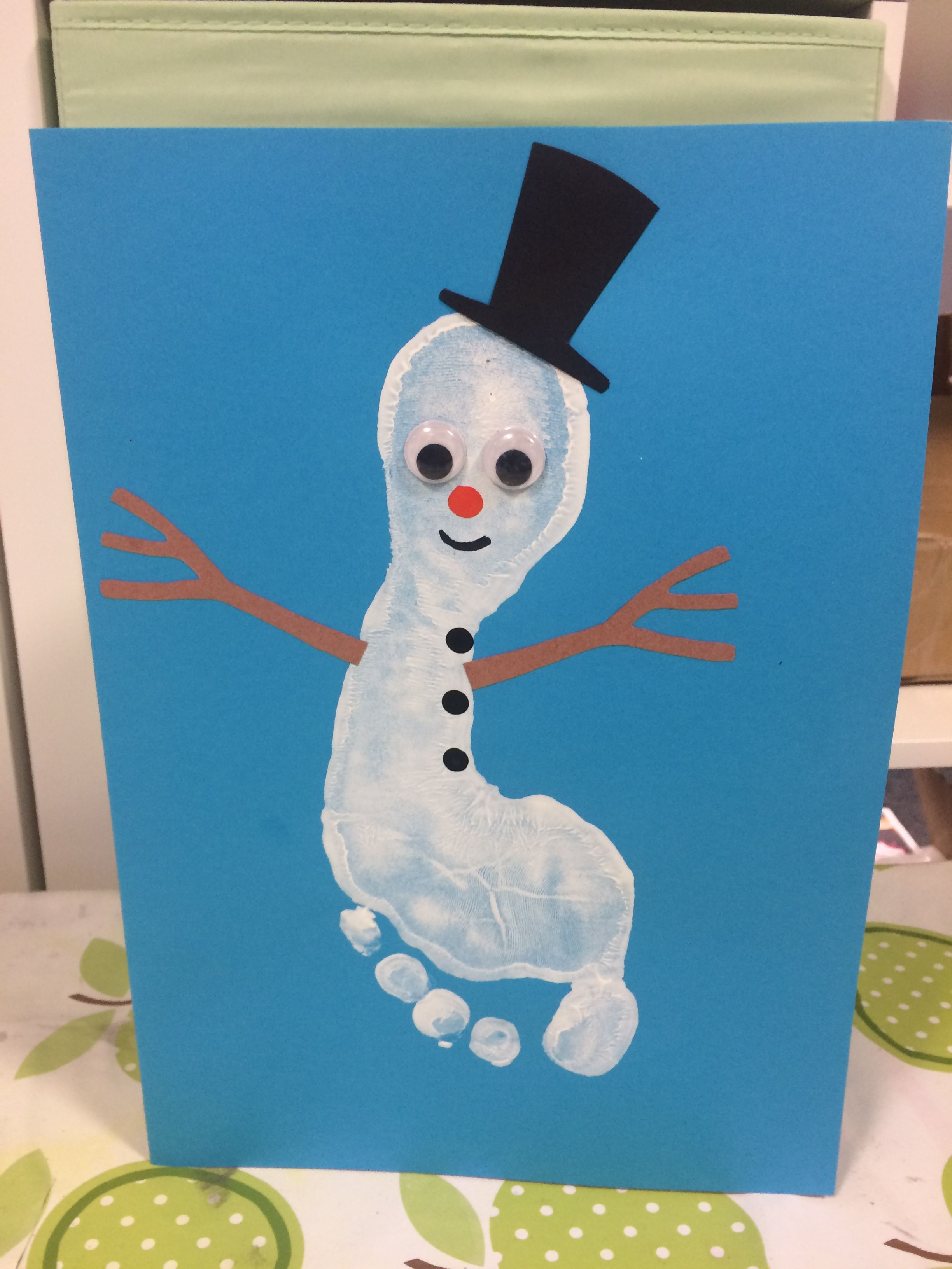 20 snowman crafts footprint ideas