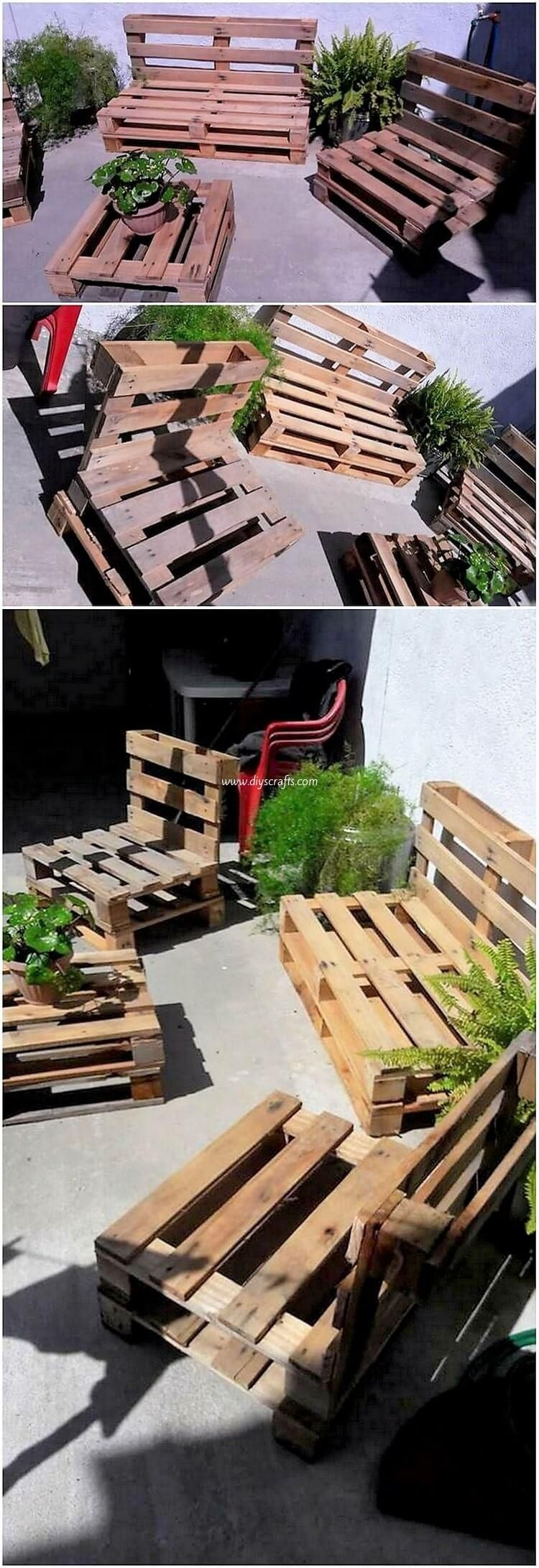 25 garden seating pallets