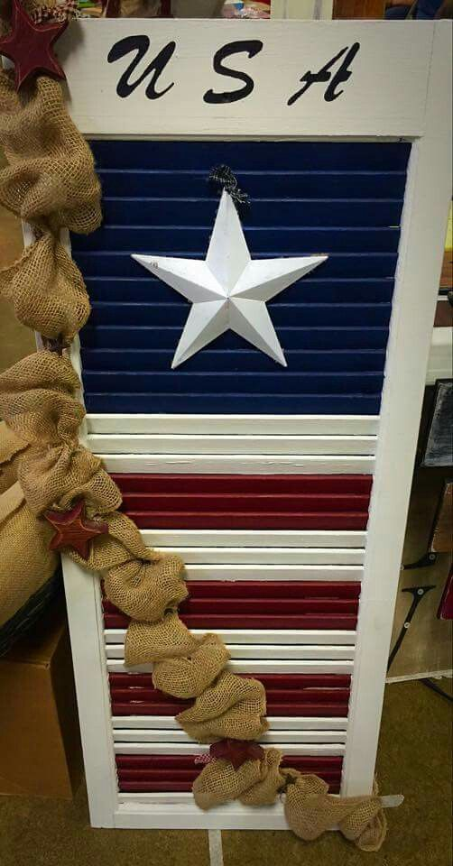 24 summer decor american flag