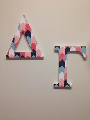 23 greek letter crafts ideas