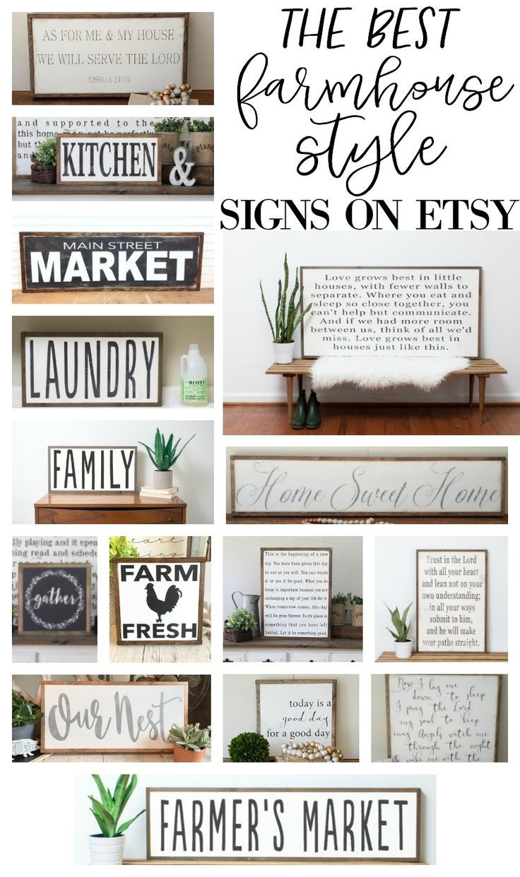 20 farmhouse style signs ideas