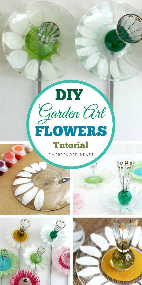 How to Make Pickle Dish Garden Art Flowers -   24 flower garden crafts ideas