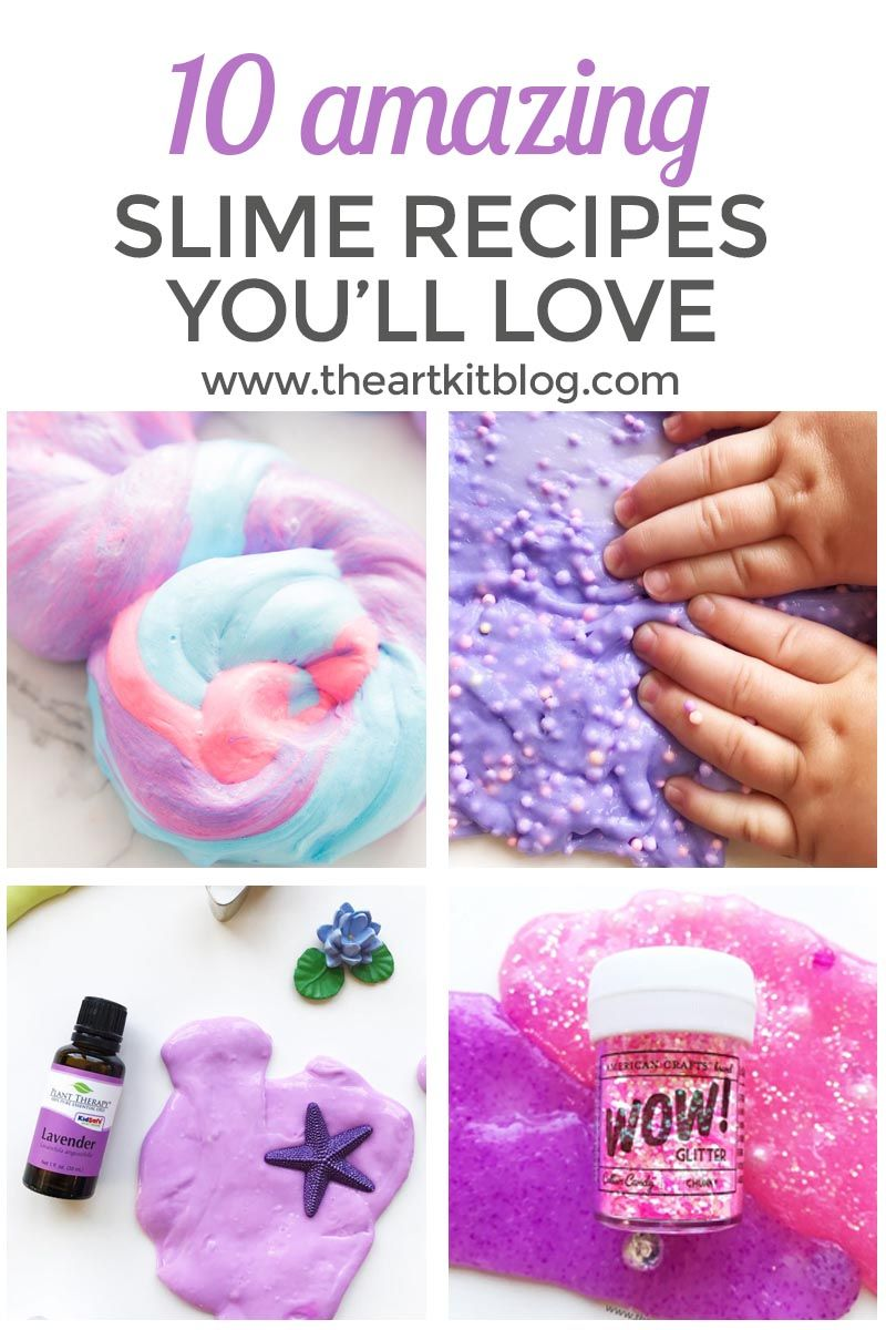 How to Make Slime: 10 Awesome Recipes -   24 easy crafts for 10 year olds ideas