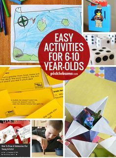 Ten Easy Activities for 6-10 Year-Olds -   24 easy crafts for 10 year olds ideas