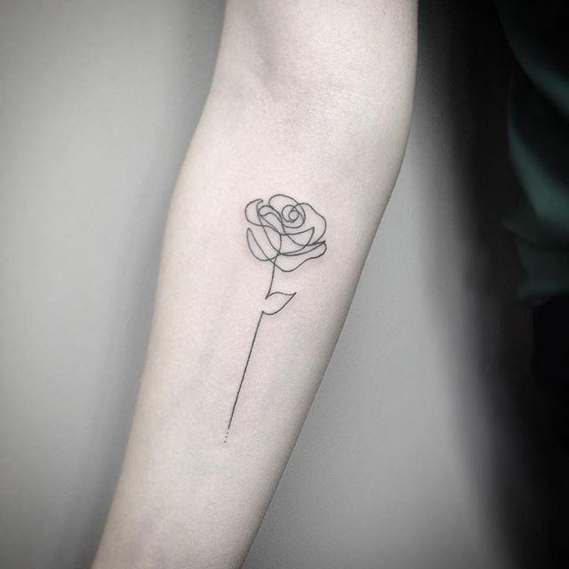 23 simple tattoo rose ideas