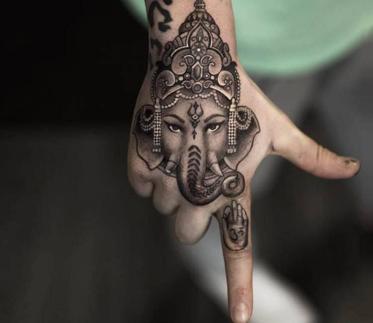19 elephant tattoo lotus