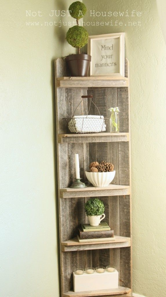 25 diy bookshelf corner