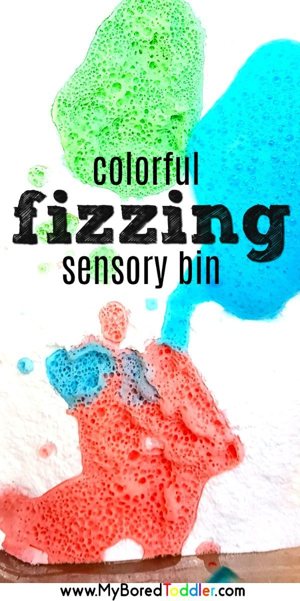 Colorful Fizzing Sensory Bin with Vinegar and Baking Soda -   24 easy crafts for 10 year olds ideas