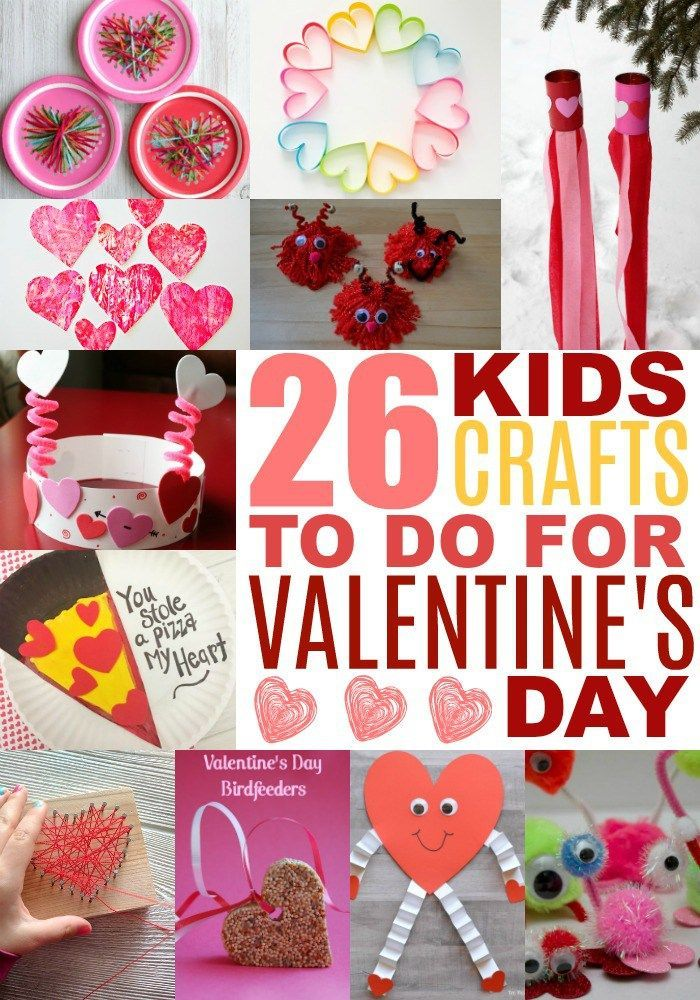 26 Fabulous Valentine's Day Crafts for Kids -   20 crafts gifts love ideas