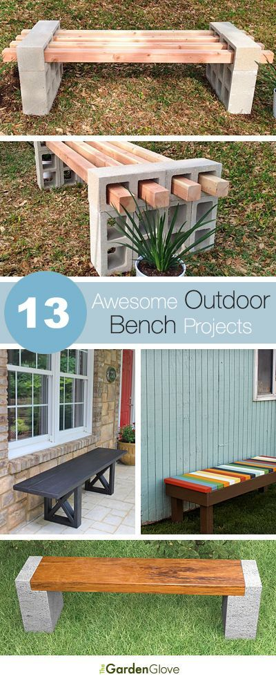 23 diy bench concrete