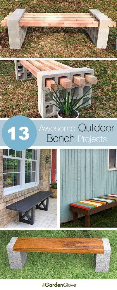 23 diy bench concrete ideas