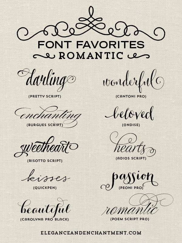 21 girly tattoo fonts