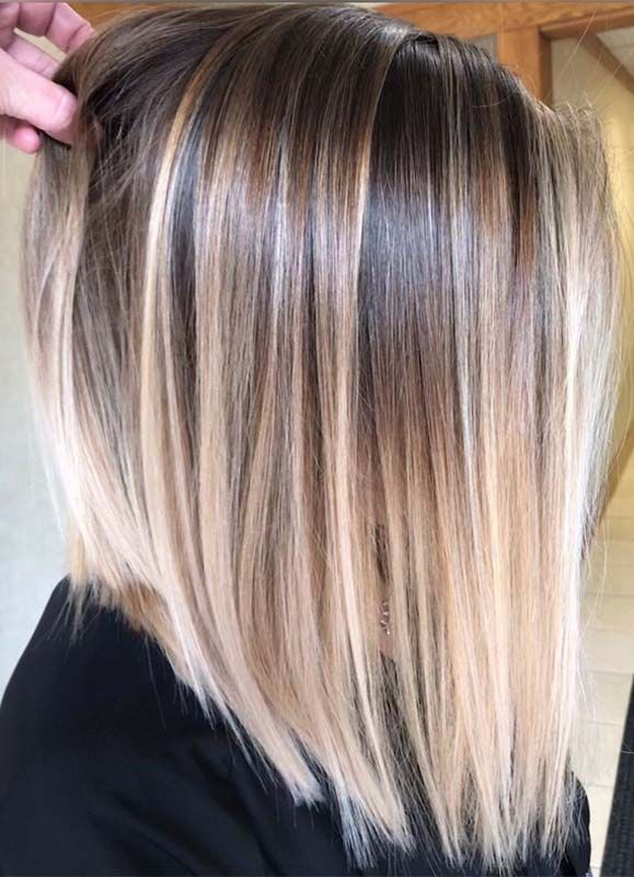 8 hairstyles Straight balayage