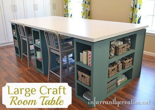 21 large crafts table ideas