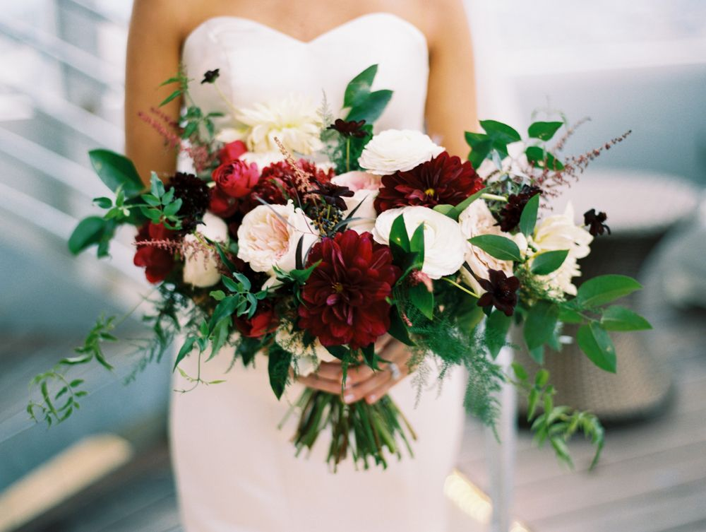 10 wedding Burgundy dahlias
