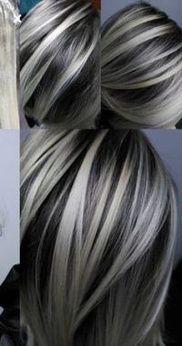 7 hair Grey highlights