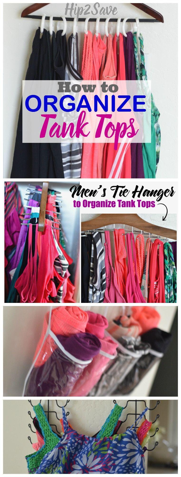 4 Easy Ways to Organize Tank Tops -   12 DIY Clothes Storage how to organize ideas
