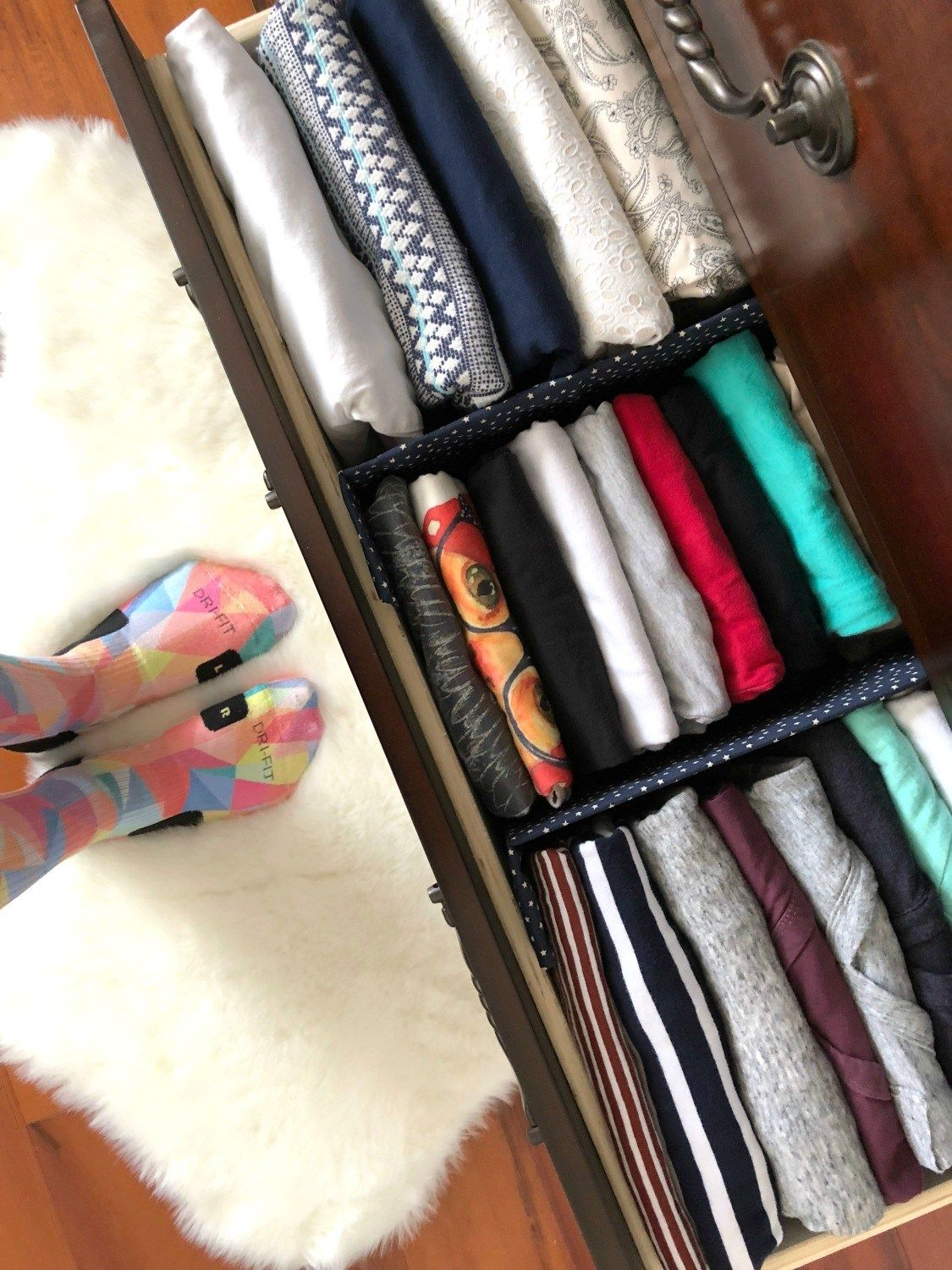 DIY Fabric Drawer Dividers -   12 DIY Clothes Storage how to organize ideas
