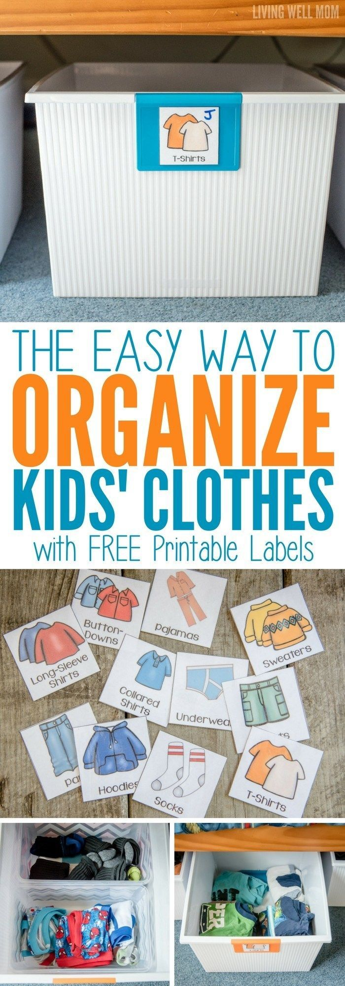 The Easy Way to Organize Kids' Clothes -   12 DIY Clothes Storage how to organize ideas