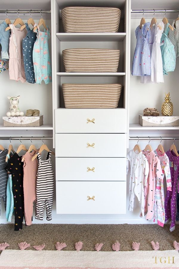 How to Build a Beautiful Baby Clothes Organizer -   12 DIY Clothes Storage how to organize ideas