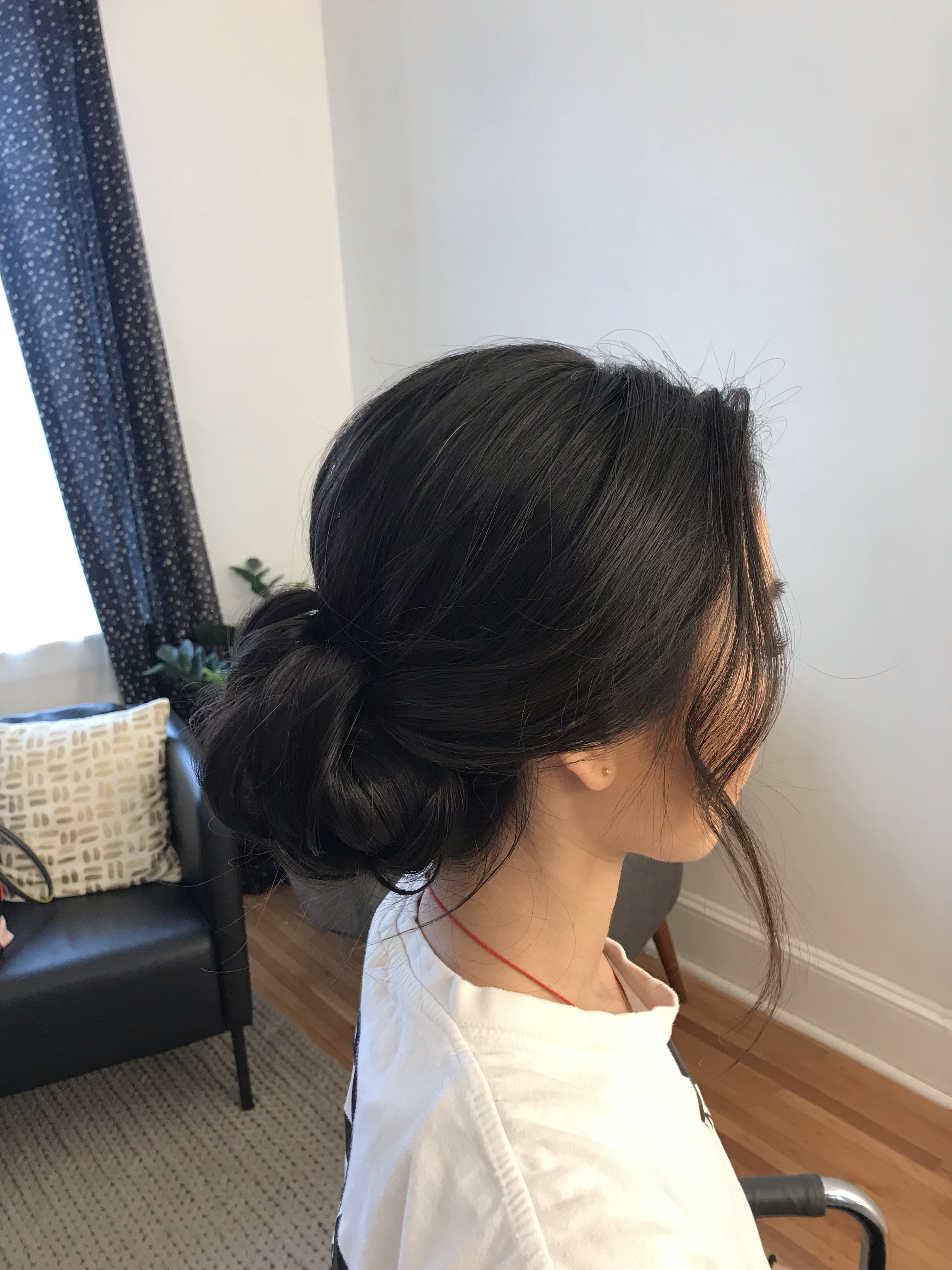 13 hair Dark updo ideas