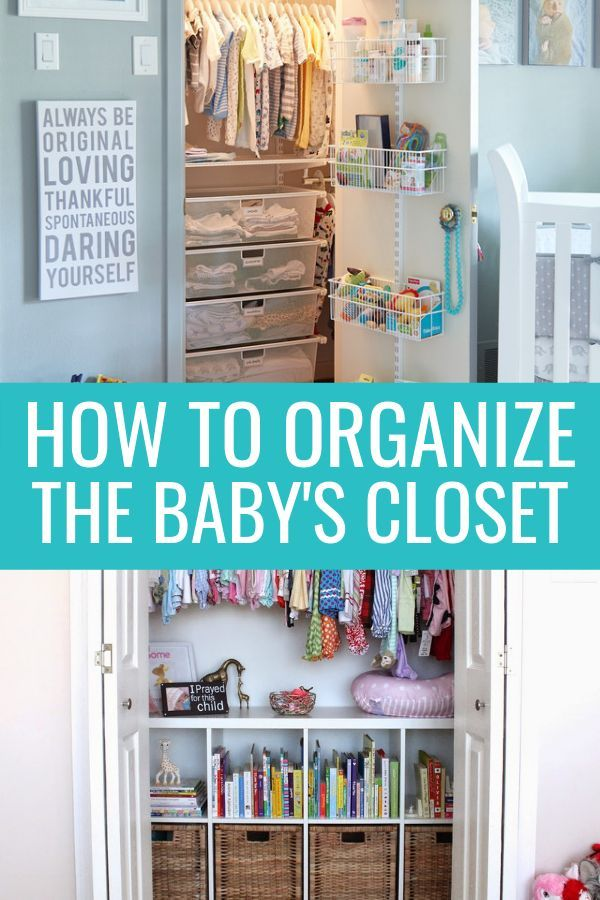 Baby Closet Organization Ideas (7 Must-Try Tips) -   12 DIY Clothes Storage how to organize ideas