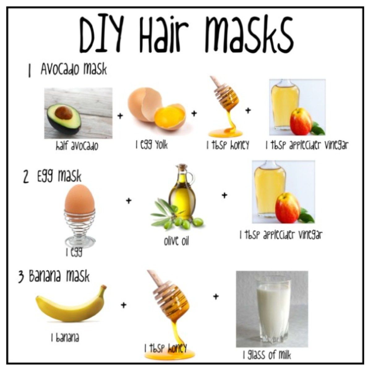 16 hair Mask diy ideas