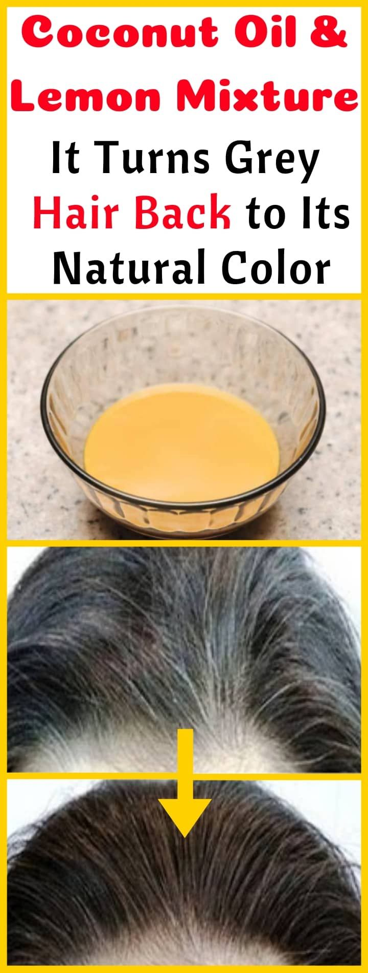 Coconut Oil and Lemon Mixture: It Turns Gray Hair Back to Its Natural Color -   10 hair Gray faces ideas