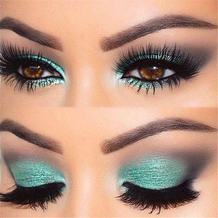14 makeup For Brown Eyes tutorial ideas