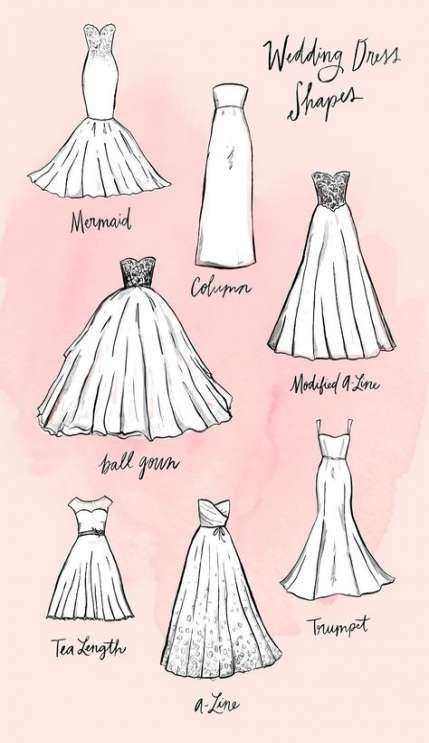 14 dress Wedding drawing ideas
