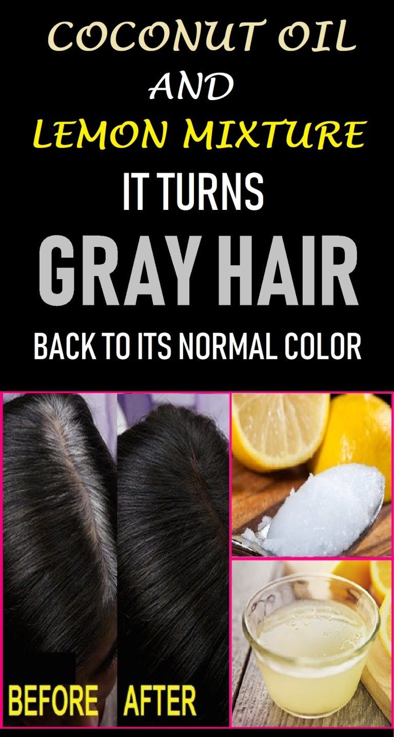 How To Use Coconut Oil And Lemon Juice For Gray Hair -   10 hair Gray faces ideas