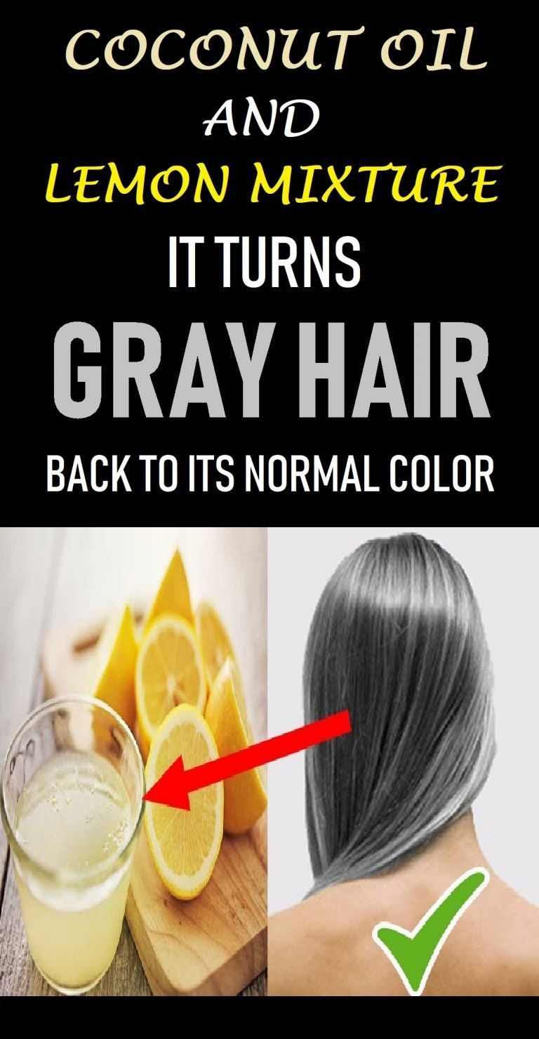 Coconut Oil And Lemon Mixture – It Turns Gray Hair Back To Its Natural Color -   10 hair Gray faces ideas