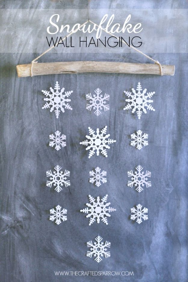 18 room decor Christmas paper snowflakes ideas