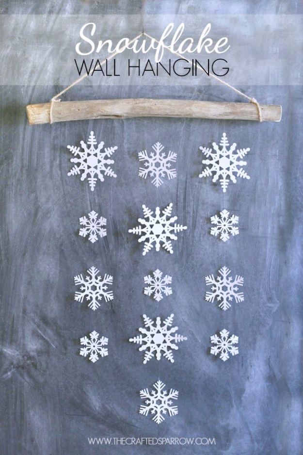 18 room decor Christmas paper snowflakes ideas