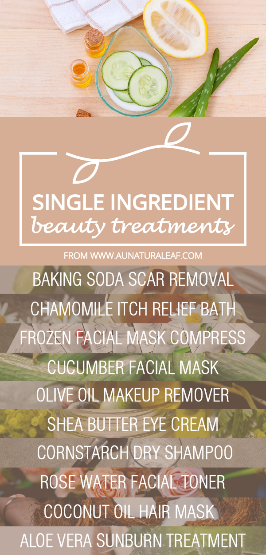 Single Ingredient Beauty Treatments -   11 skin care DIY redness ideas