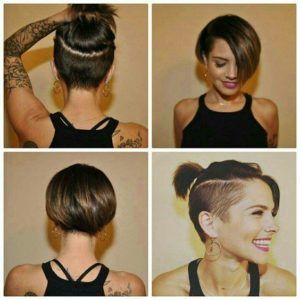 Short Brunette Hairstyles -   16 edgy hairstyles Short ideas