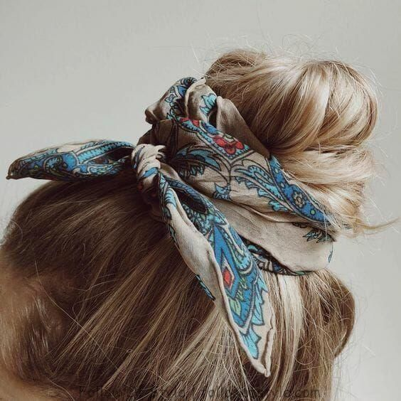 Head Scarf, Bandana and Bow Hairstyle -   8 hairstyles Bandana bows ideas