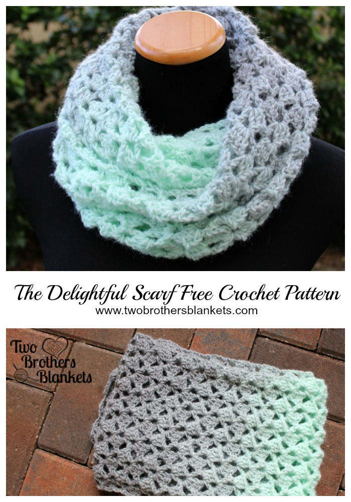 Delightful Scarf- Free Crochet Pattern - Two Brothers Blankets -   17 DIY Clothes Scarf free pattern ideas