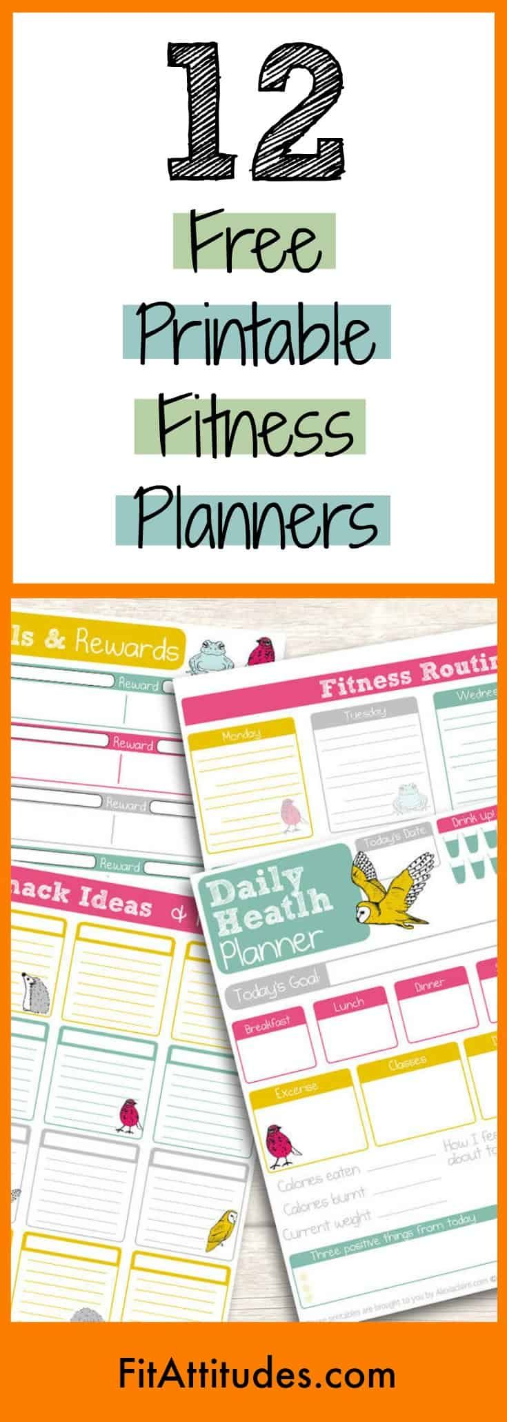 16 fitness Journal printable ideas