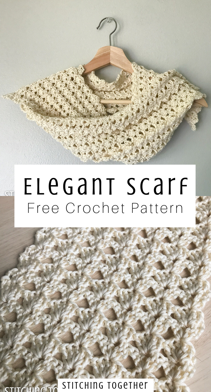 Seashore Shell Stitch Scarf | Stitching Together -   17 DIY Clothes Scarf free pattern ideas