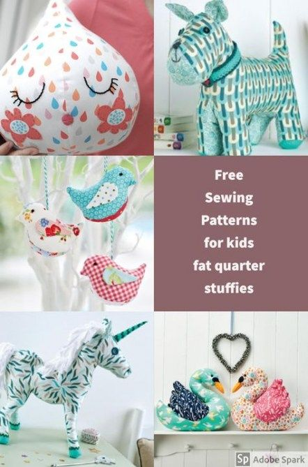 12 fabric crafts Animals fat quarters ideas
