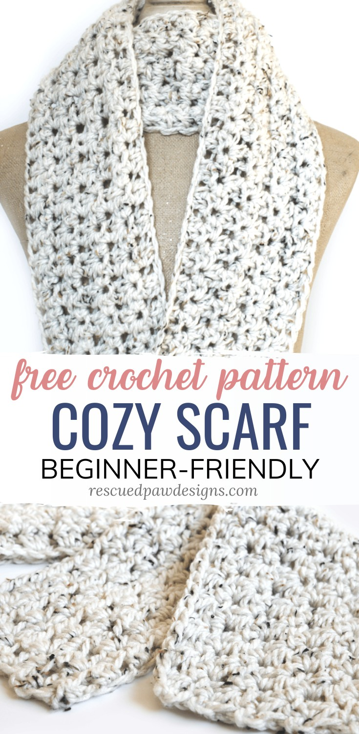 Free Crochet Scarf Pattern - Rescued Paw Designs -   17 DIY Clothes Scarf free pattern ideas