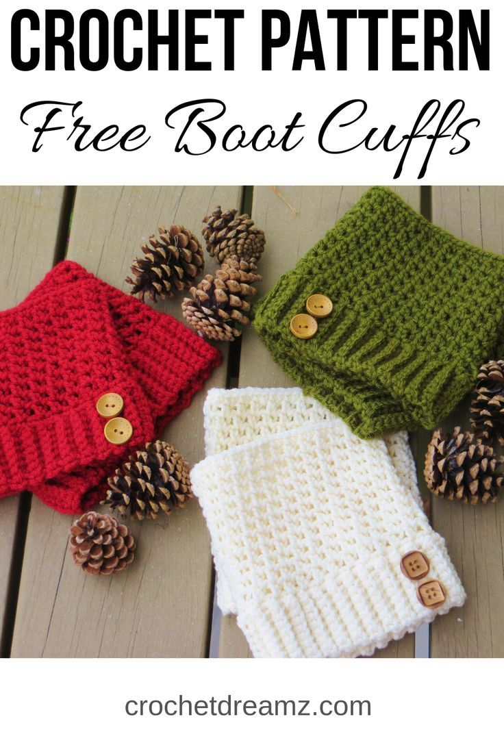 Brooklyn Boot Cuffs, Free Crochet Pattern -   17 DIY Clothes Scarf free pattern ideas