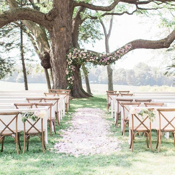 14 wedding Garden tree ideas