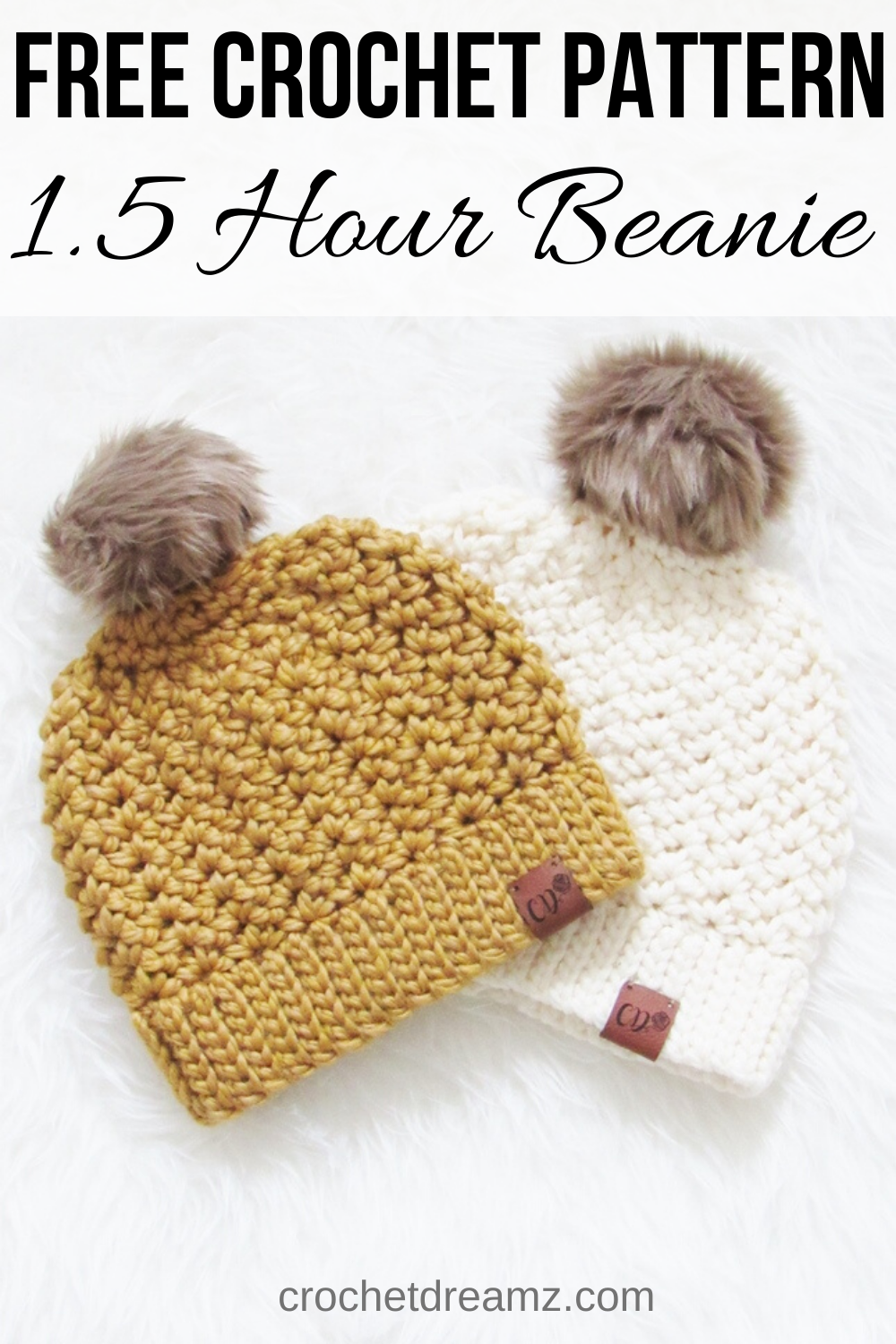 1.5 Hour Chunky Crochet Beanie -   20 knitting and crochet Free Patterns girls ideas