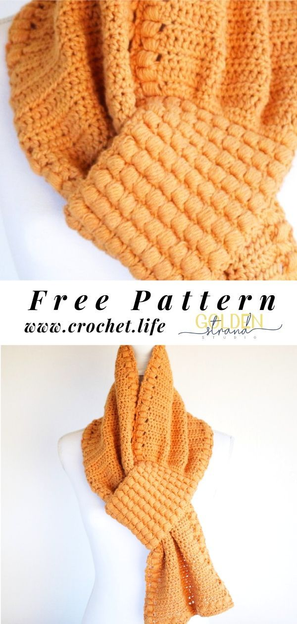 Free Crochet Scarf Pattern -   17 DIY Clothes Scarf free pattern ideas