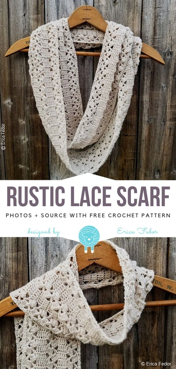 Elegant Lace Scarves Free Crochet Patterns -   17 DIY Clothes Scarf free pattern ideas